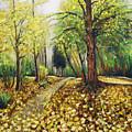 Autumn Alley by Vladimir Kezerashvili