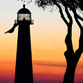 Biloxi Lighthouse At Dusk by Joan McCool