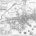 Boston Map, 1722 by Granger