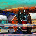 Canadian Art Laurentian Landscape Quebec Winter Scene by Carole Spandau