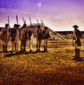Colonial Soldiers At Fort Mifflin by Bill Cannon