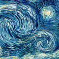 Detail Of The Starry Night by Vincent Van Gogh