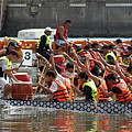 Dragon Boat Races On The Love River In Taiwan by Yali Shi