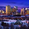 Edmonton Winter Skyline by Corey Hochachka