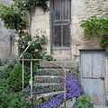 French Staircase With Flowers by Marilyn Dunlap