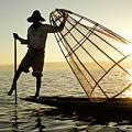Inle Lake Fisherman by Michele Burgess