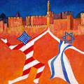 Israel And Usa Dancing by Jane  Simonson