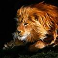 Male Lion Fractal by Julie L Hoddinott