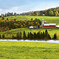 New England Farm by Betty LaRue