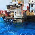 Old Town Juneau Ak by Gerald Carpenter