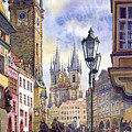 Prague Old Town Square 01 by Yuriy  Shevchuk