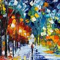 Romantic Winter by Leonid Afremov