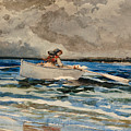 Rowing At Prouts Neck by Winslow Homer