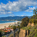 Santa Monica Ca Steps Palisades Park Bluffs  by David Zanzinger