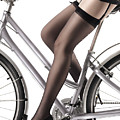 Sexy Woman Riding A Bike by Oleksiy Maksymenko
