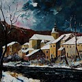 Snow In Chassepierre by Pol Ledent