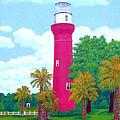 St Johns River  Lighthouse by Frederic Kohli