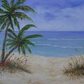 Tropical Beach by Barbara Harper