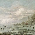 Winter Landscape by Aert van der Neer