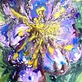 Digital Flower Painting by Baljit Chadha