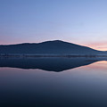 Cerknica Lake At Dawn by Ian Middleton