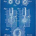 1902 Golf Ball Patent Artwork - Blueprint by Nikki Marie Smith