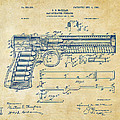 1903 Mcclean Pistol Patent Artwork - Vintage by Nikki Marie Smith