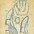 1941 Baseball Glove Patent - Vintage by Nikki Marie Smith