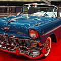1956 Chevrolet Bel-air Convertible . Blue . 7d9248 by Wingsdomain Art and Photography