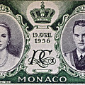1956 Princess Grace Of Monaco Stamp II by Bill Owen