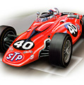 1967 Stp Turbine Indy 500 Car by David Kyte
