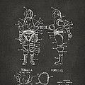 1968 Hard Space Suit Patent Artwork - Gray by Nikki Marie Smith