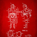 1968 Hard Space Suit Patent Artwork - Red by Nikki Marie Smith