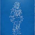 1973 Astronaut Space Suit Patent Artwork - Blueprint by Nikki Marie Smith