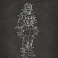 1973 Astronaut Space Suit Patent Artwork - Gray by Nikki Marie Smith