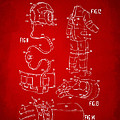 1973 Space Suit Elements Patent Artwork - Red by Nikki Marie Smith