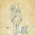 1973 Space Suit Patent Inventors Artwork - Vintage by Nikki Marie Smith