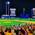 1986 World  Series At Shea by T Kolendera