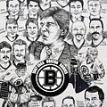 1988 Boston Bruins Newspaper Poster by Dave Olsen