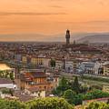 Florence Sunset by Mick Burkey