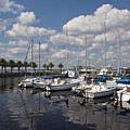 Lake Monroe At The Port Of Sanford Florida by Allan  Hughes