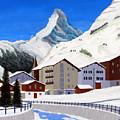 Matterhorn-zermatt by Frederic Kohli