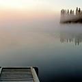 Morning Mist Over Lynx Lake In Northern Saskatchewan by Mark Duffy