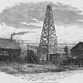 Oil Well, 19th Century by Granger
