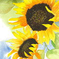 2 Sunflowers by Mary Lomma