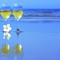 Two Glasses Of White Wine by MotHaiBaPhoto Prints