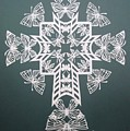 White Butterfly-cross by Tong Steinle