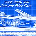 2008 Indy 500 Corvette Pace Cars Blueprint Series - Reversed by K Scott Teeters