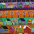Mexican Town by Pristine Cartera Turkus