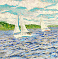 Sailing On Casco Bay by Collette Hurst